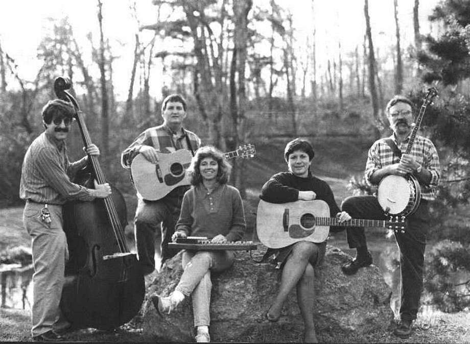 The original, early-1990s version of The Professors of Bluegrass, from left, Peter Salovey, Kelly Brownell, Mary Jo Brownell, Barbara Shaw and Frank Shaw.