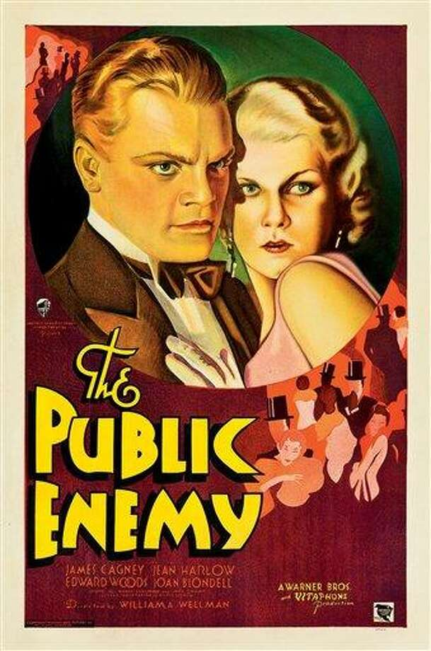 "This February 2012 photo provided by Heritage Auctions in Dallas shows a movie poster for the 1931 film ""The Public Enemy"" featuring James Cagney. This and other rare classic movie theater posters found in a northeastern Pennsylvania attic are scheduled to go to auction March 23. Associated Press Photo: AP / Heritage Auctions"