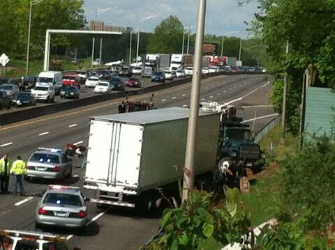 Two separate tractor-trailer accidents snarl traffic on I-95