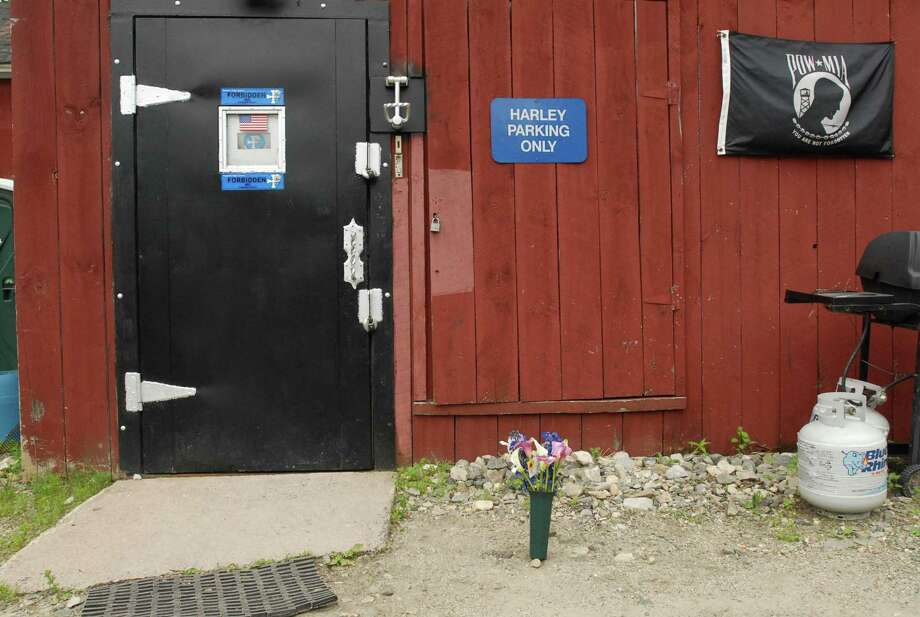 The former home of the Forbidden Motorcycle Club, located on Winsted Road, as it looked the day after Ronald Lagasse was killed on June 28, 2008. (Register Citizen file photo)