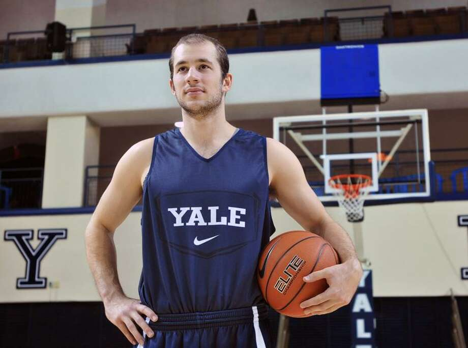 New Haven-- Yale Basketball captain Sam Martin. Photo--Peter Casolino/New Haven Register.