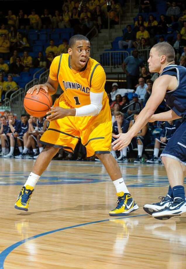 Sophomore Zaid Hearst and an experienced Quinnipiac men's team will look to finally win the Northeast Conference and reach the NCAA tournament. (Photo courtesy of Quinnipiac Athletics) / John Hassett Photography
