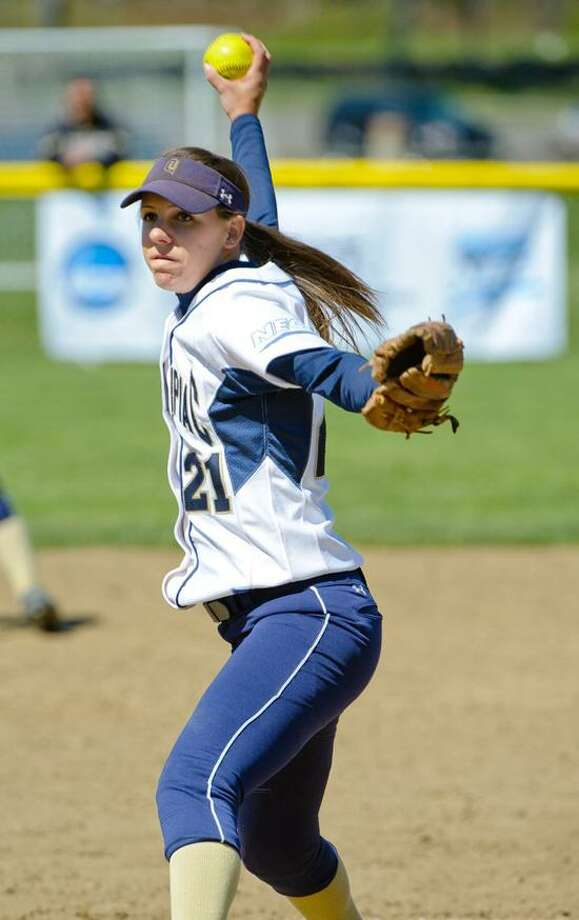Quinnipiac pitcher Heather Schwartzburg. (Photo courtesy of Quinnipiac Athletics)