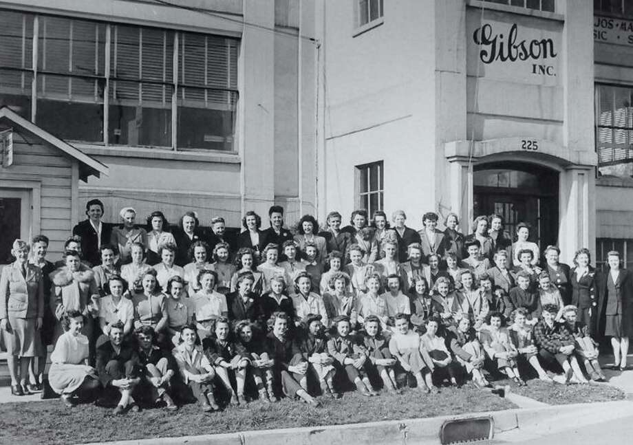 New Haven-Women who worked at Gibson Inc. during World War II.   Hand out