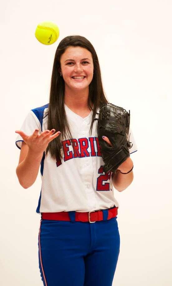 Megan Ruonavaara of Rocky Hill is the Register's State Softball MVP.  Photo by Melanie Stengel.