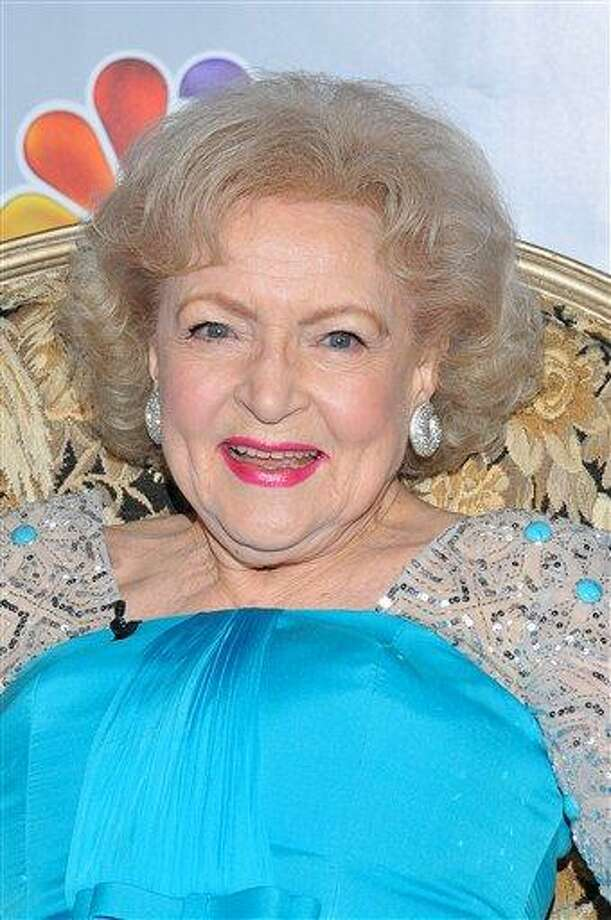 "Actress Betty White attends a press conference prior to  the taping of ""Betty White's 90th Birthday: A Tribute To America's Golden Girl"" Sunday in Los Angeles. The show will air on NBC on Jan. 16. Associated Press Photo: ASSOCIATED PRESS / AP2012"
