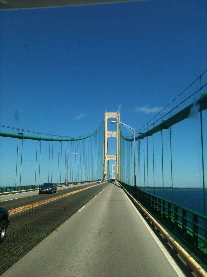 The picturesque Mackinac Bridge.