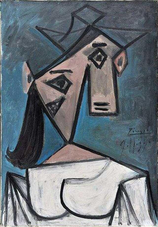 A 1939 female bust by Spanish painter Pablo Picasso, belonging to the National Art Gallery in Athens, is one of three works stolen from the Athens museum early Monday Greek police said. The unknown thieves also made off with a work by Dutch painter Piet Mondrian. Associated Press Photo: AP / GREEK POLICE NATIONAL ART GALLERY