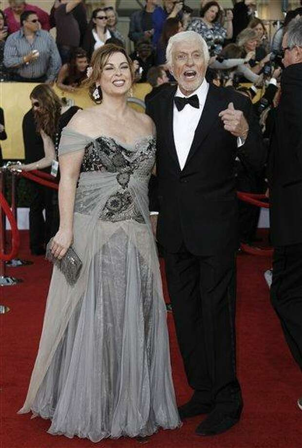 In this Jan. 29, 2012 file photo, actor Dick Van Dyke, right, and Arlene Silver arrive at the 18th Annual Screen Actors Guild Awards in Los Angeles. Van Dyke and Silver were married on Leap Day at a chapel in Malibu, according to his publicist, Bob Palmer. (AP Photo/Matt Sayles, file) Photo: ASSOCIATED PRESS / AP2012