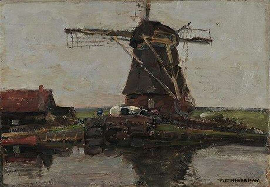 An oil painting by Dutch 20th century master Piet Mondrian belonging to the National Art Gallery in Athens. The work is one of three stolen from the Athens museum early Monday, Greek police said. Associated Press Photo: AP / GREEK POLICE NATIONAL ART GALLERY