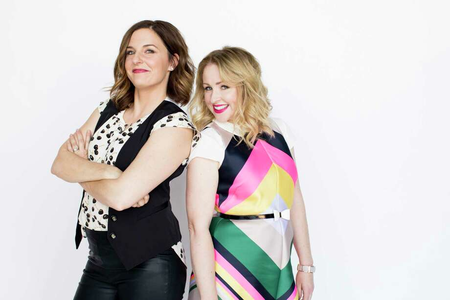 Comedians Kristin Hensley, left, and Jen Smedley are the creators of IMOMSOHARD on Facebook. Photo: Joanna DeGeneres