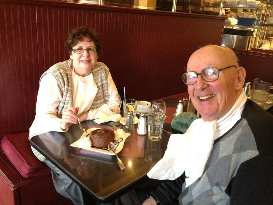 Contributed photo: Patricia Hadden of Milford and James McKinney of Hamden met at Savin Rock Roasting Company in West Haven.