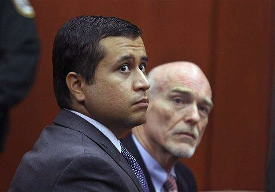 George Zimmerman, left, and attorney Don West appear before Circuit Judge Kenneth R. Lester, Jr. during a bond hearing June 29 at the Seminole County Criminal Justice Center in Sanford, Fla. Zimmerman's bail was set at $1 million Thursday. Associated Press Photo: AP / Copyright 2012 The Associated Press. All rights reserved. This material may not be published, broadcast, rewritten or redistributed.