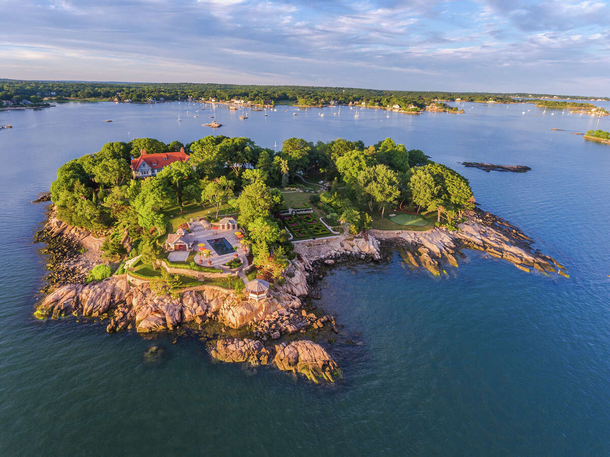 Roger Island, Branford Roger Island is the largest island for sale in the Thimble Island archipelago and can be bought for $35 million. Click through the slideshow for more secluded islands off the Connecticut shoreline.