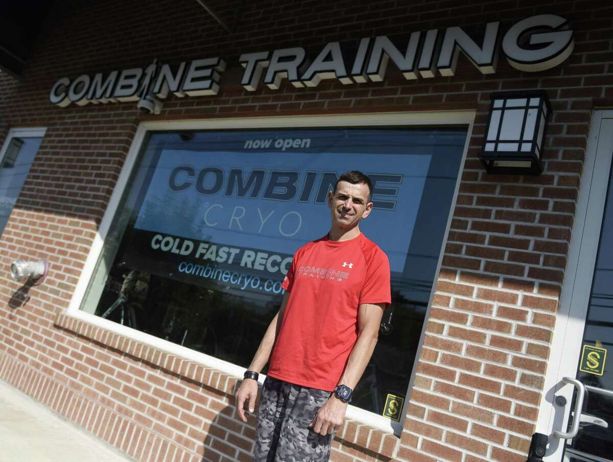 CEO and Founder Craig Vitale poses outside Combine Training in Greenwich, Conn. Tuesday, July 18, 2017. Combine Training offers cryotherapy, a practice that exposes the body to extremely low temperatures for a short period of time and is said to prompt quick recovery after a workout and release endorphins to give a feeling similar to a