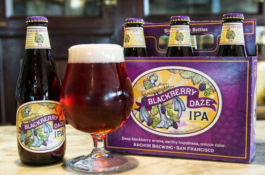 Anchor's Blackberry Daze IPA is an excellent example of the current trend of fruit-infused IPAs. Anchor is a more tradition-minded brewery than most in the United States, but is participating in this latest offshoot from the classic IPA flavor. Photo: Courtesy Photo