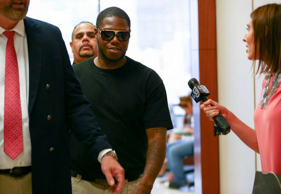 "Houston rapper Joseph Wayne McVey, commonly known by ""Z-Ro,"" appears at the 351st courtroom of the Harris County Courthouse Thursday, July 27 2017, in Houston. McVey is accused of beating his now ex-girlfriend Brittany Bullock, also known by her rapper stage name ""Just Brittany,"" while brandishing a handgun in his Katy area home in April. Photo:  Godofredo A. Vasquez / Houston Chronicle"