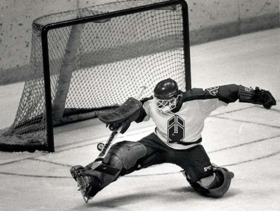 (Register file photo)  New Haven was home to pro hockey and the New Haven Nighthawks for 20 years, giving area fans the chance to see future NHL stars like goalie Glenn Healy, above, who would go on to play for the Islanders, Rangers, Kings and Maple Leafs back in the good old days when there used to be an NHL regular season.