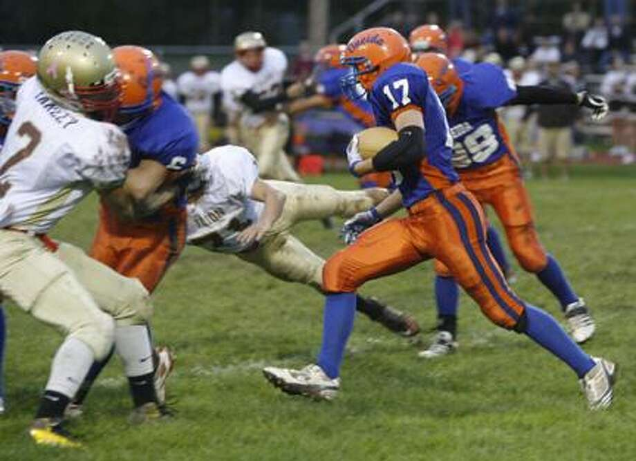 Dispatch Staff Photo by JOHN HAEGER (Twitter.com/OneidaPhoto)Oneida's Justin Klossner (17) returns a kick against Ilion last year. Klossner and his teammates are hoping to make another deep playoff run in 2012.