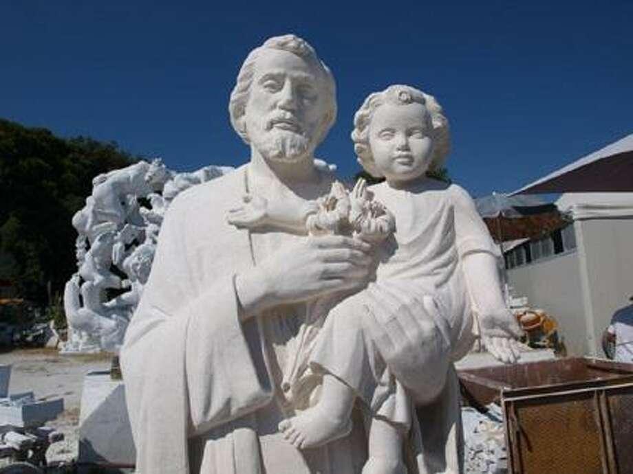 Photo Courtesy St. JosephÕs Roman Catholic ChurchThe completed new statue.