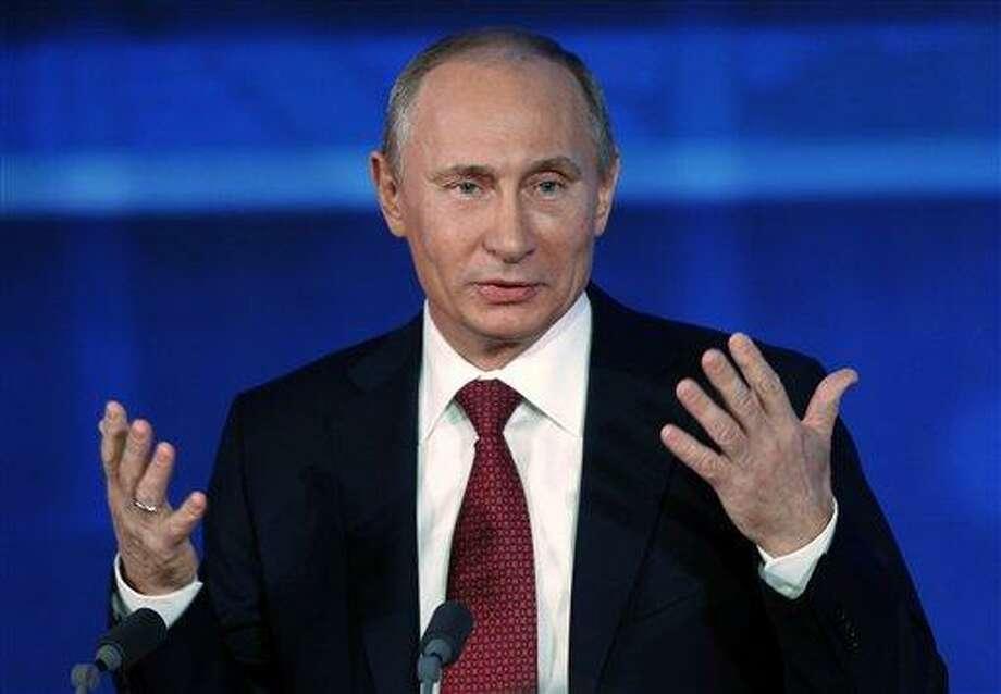 Russian President Vladimir Putin. Associated Press file photo Photo: AP / AP
