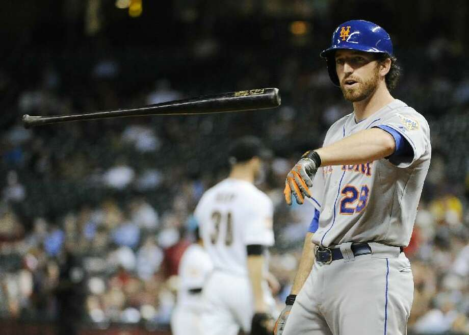 ASSOCIATED PRESS New York Mets first baseman Ike Davis (29) tosses his bat after striking out against the Houston Astros in the fifth inning of Tuesday's game in Houston. The Mets lost 6-3.