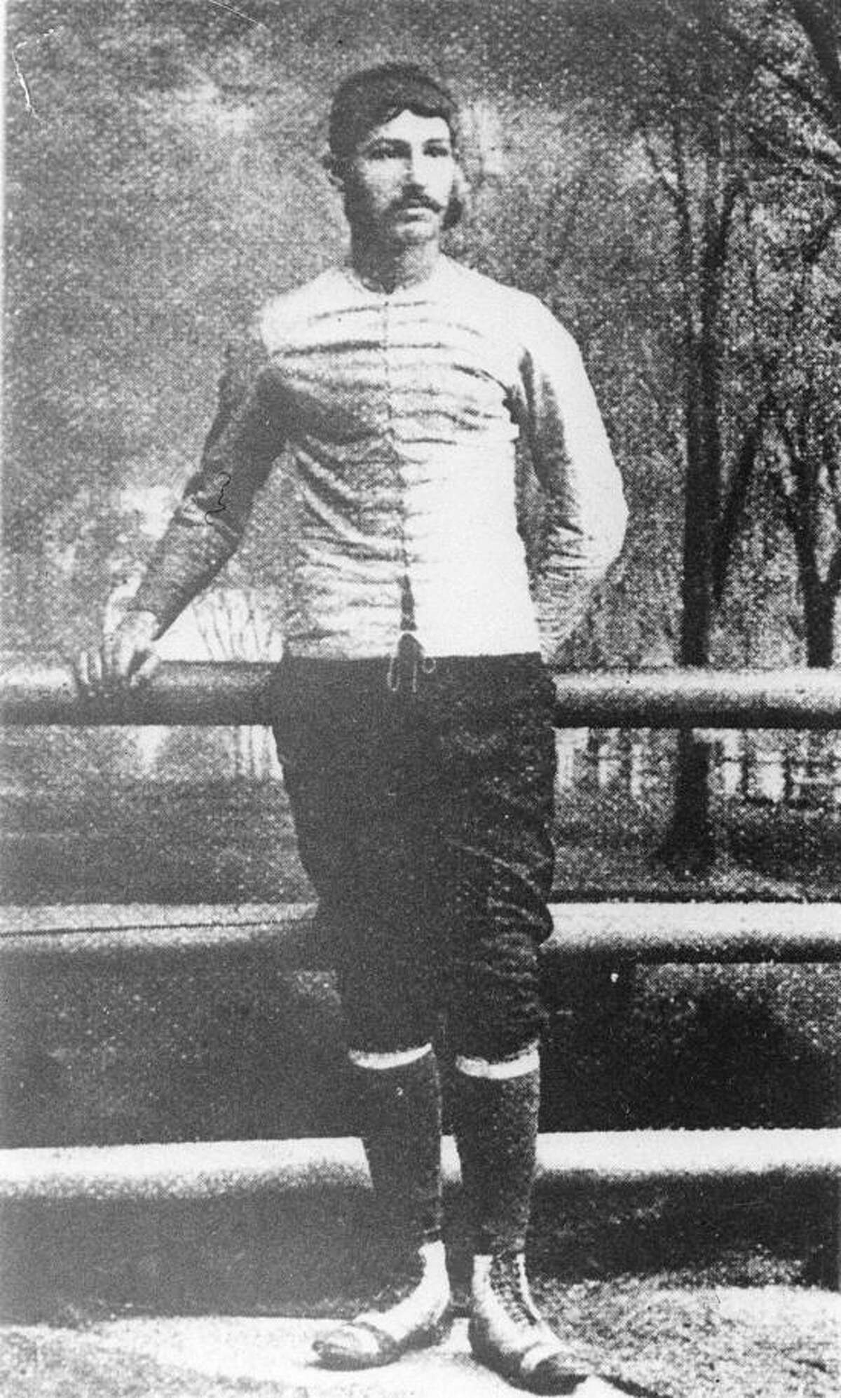Walter Camp of the Yale football team is seen in this photograph from ca. 1879. (AP Photo)