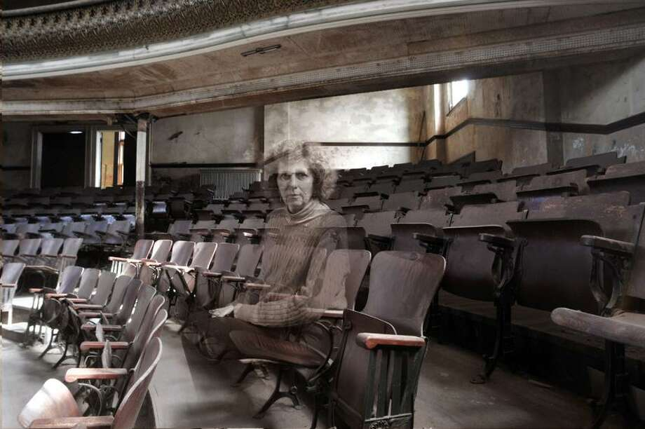 Derby-- Some allege that the Sterling Opera House in Derby is haunted by ghosts. Patti Villars as a ghost in the theater. Photo ILLUSTRATION by Peter Casolino/New Haven Register