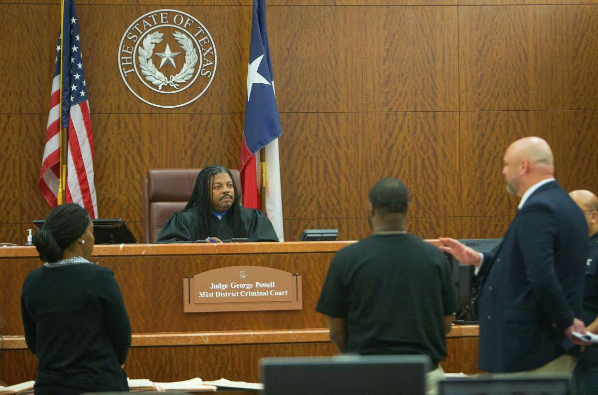 George Powell of the 351st District Court was one of the three active Harris County District Judges admonished.