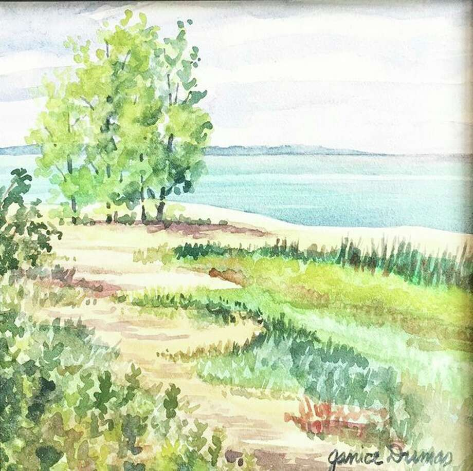 Janice Dumas' 'Pathway to the Beach' is part of the 'Great Lakes Bay En Plein Air Festival: Open Class Works' exhibit at the Andersen Enrichment Center in Saginaw. (Photo provided)
