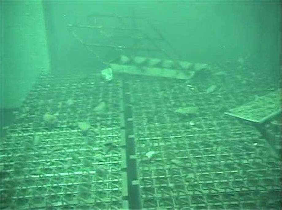 This May 7, 2011 file image released by Tokyo Electric Power Co. (TEPCO) shows spent fuel storage pool of the Unit 4 reactor building at the crippled Fukushima Dai-ichi nuclear power plant reactor buildings. AP Photo/Tokyo Electric Power Co Photo: AP / Tokyo Electric Power Co.