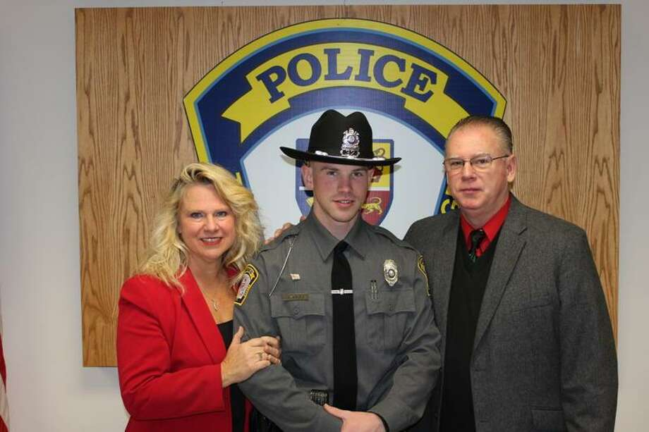 Officer Sean Barley W/ Christine Bartley (mother) & William Bartley (father)