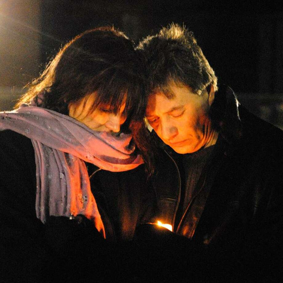 A vigil was set up for the victims of the Sandy Hook Elementary School shooting that occurred last week, held at the Fairfield Hills Campus athletic fields on Friday evening.Photo Erica Miller 12/21/12 VigilFairfield1