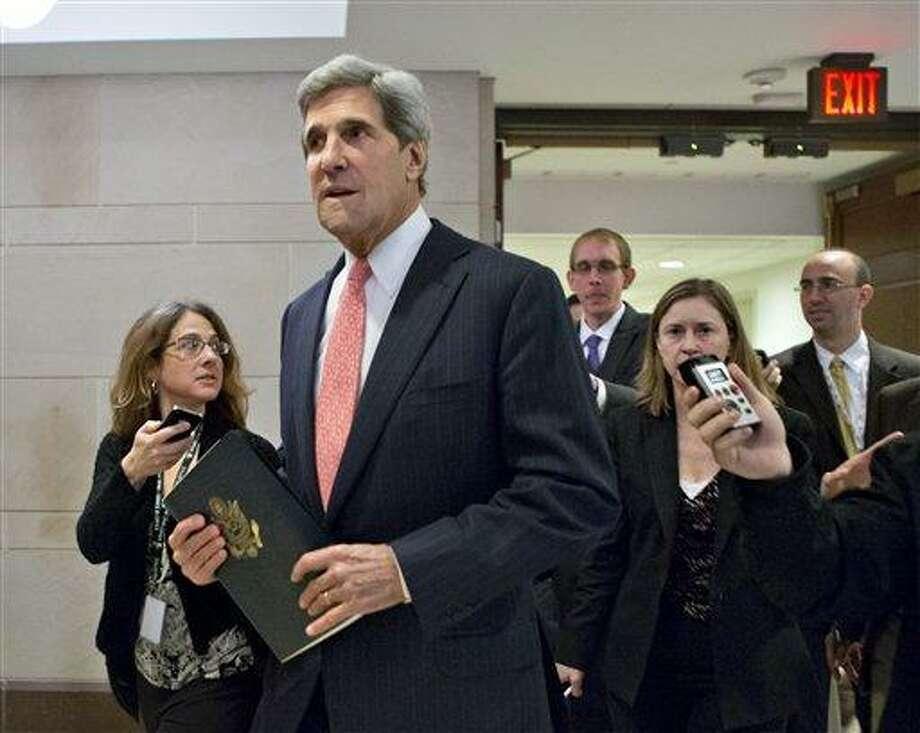 Sen. .John Kerry, D-Mass. Associated Press file photo Photo: AP / AP