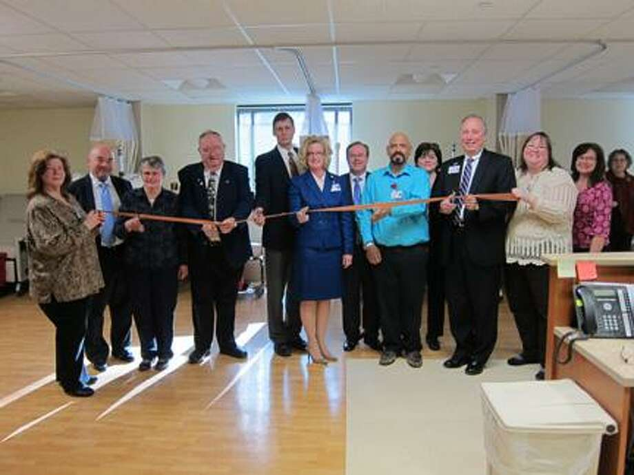 Submitted Photo From left, Mary Freytag, charge nurse for Hamilton Dialysis Center; Dave Felton, CEO of Community Memorial Hospital; Hamilyon Mayor Margaret Miller; Assemblyman William Magee; Dr. Charles Eldredge, medical director of Regional Dialysis Center; Kelly Scheinman, executive director of Regional Dialysis Center; Steven J. Brown, COO of FSLH; Joe Perrotti, dialysis equipment technician; Kathy McKeone, nurse manager for Regional Dialysis Center; Scott H. Perra, CEO of FSLH; Michelle Allen, staff nurse at Hamilton Dialysis Center; and Ann Anken, assistant director of Regional Dialysis Center at the Hamilton Dialysis Center.