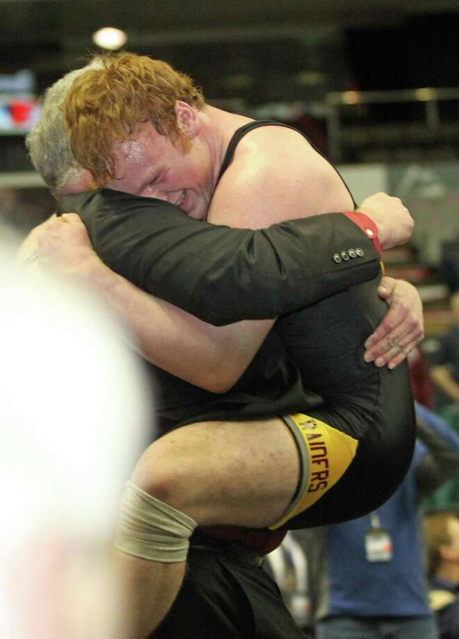 Zack Zupan of Canastota won his State Division II 170 pound wrestling championship with a 3-2 decision over Nick Mitchell of Frewsburg (Section VI).