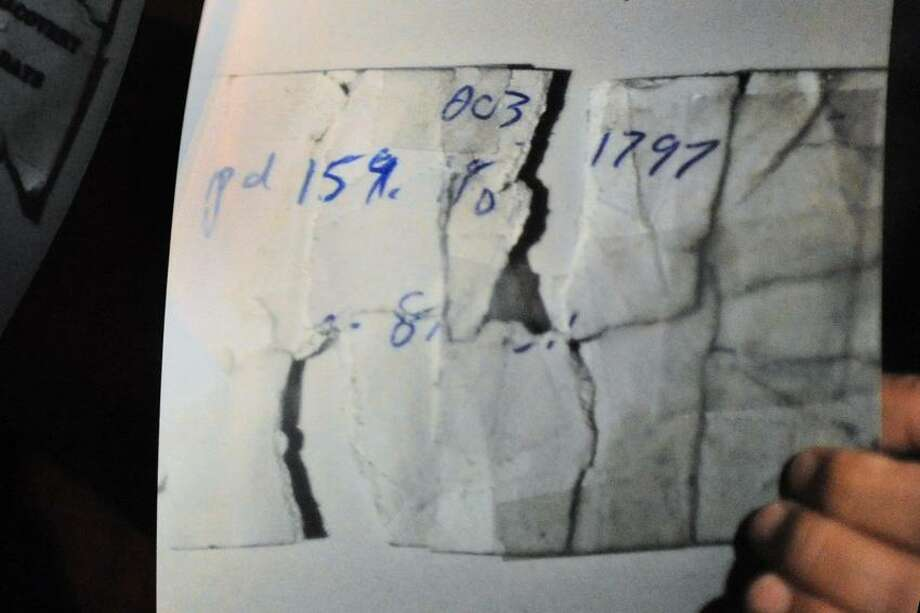 A photographic facsimile of a receipt that allegedly was torn up by Crown Auto during their dispute with a woman who allegedly assualted an employee of the towing company.