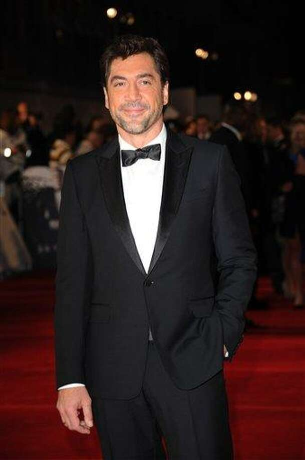 "Javier Bardem arrives at the world premiere of ""Skyfall"" at the Royal Albert Hall on Tuesday in London. / 2012 AP"