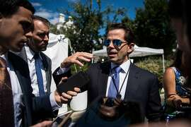 White House communications director Anthony Scaramucci, seen Tuesday, said he is willing to overhaul the entire press operation in an effort to plug the leaks that have so infuriated the president.  MUST CREDIT: Washington Post photo by Jabin Botsford