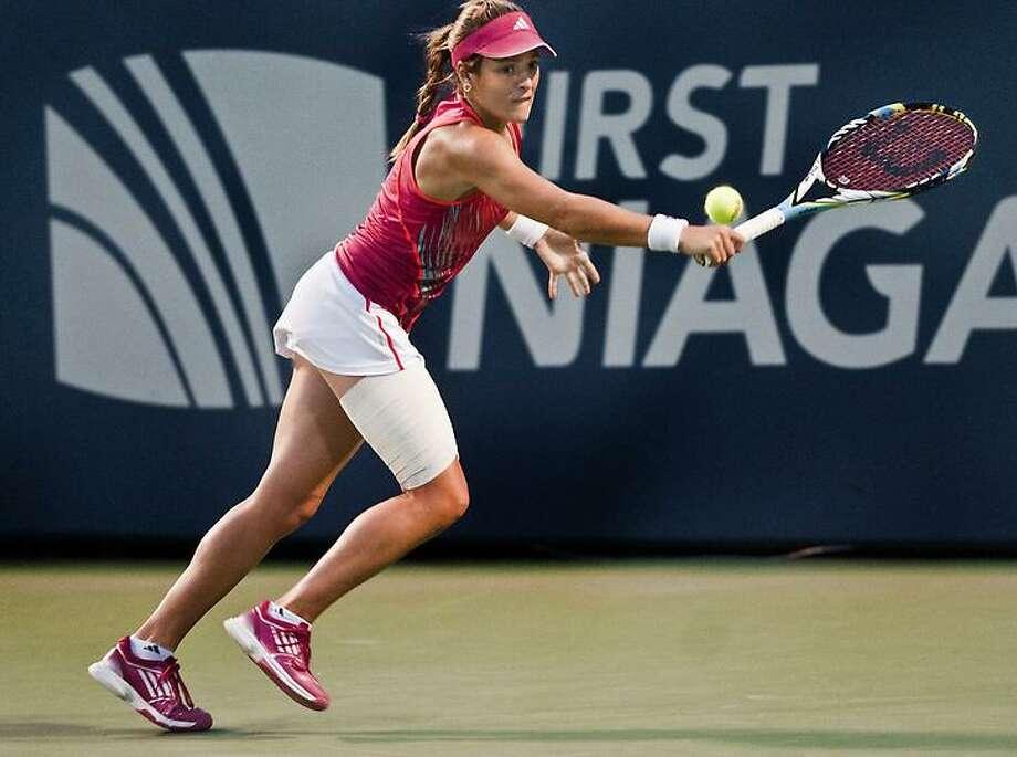 New Haven Open - Nicole Gibbs during the second set.   Melanie Stengel/Register