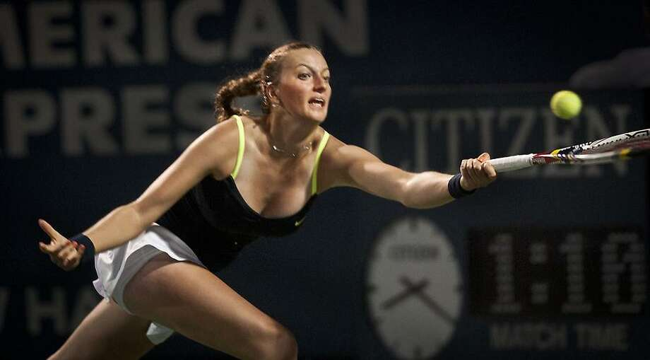 New Haven Open - Petra Kvitova during the second set against Nicole Gibbs.   Melanie Stengel/Register