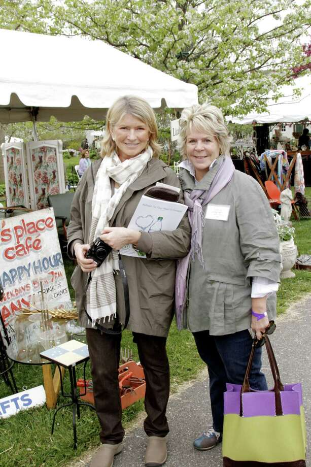 Photo by Stephanie Stanton Photography Interior designer Bunny Williams, right, with Martha Stewart at the Trade Secrets 11th Annual Rare Plant & Garden Sale last year.