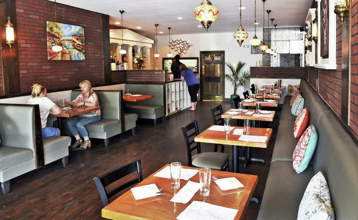 Dining room at Kismet Mediterranean Grill Thursday July 20, 2017 in Albany, NY. (John Carl D'Annibale / Times Union)