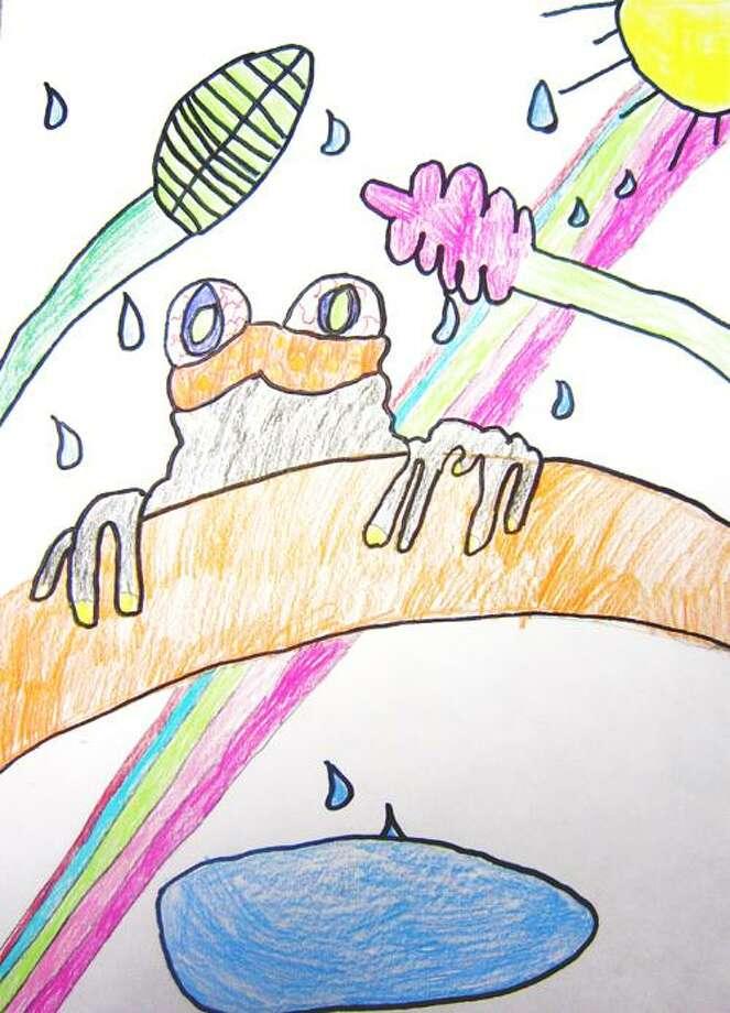 Drawing by Annie Walsh, Grade 4, Burton Street Elementary; Mary Damon, art teacher.
