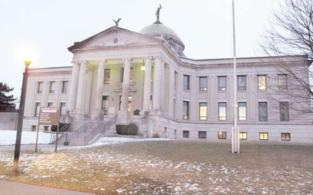 Photo by JOHN HAEGER (Twitter.com/OneidaPhoto) Madison County Court House on Tuesday, Feb. 21, 2012.