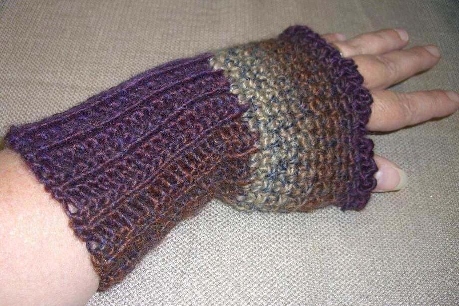 Photo provided by Ginger Balch Fingerless mitts make a great last-minute gift.