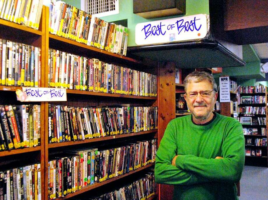 "Owner Hank Paper, stands in front of the ""Best of Best"" section in his store Best Video in Hamden of off Whitney Avenue.Eliezer Santiago/ for the Register 06.13.12"