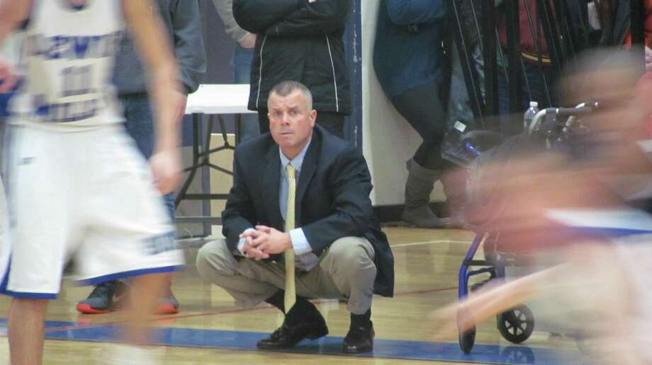Lewis Mills coach Todd Kozak watched his team turn up the heat defensively in the second half and come away with their first win of the season. Photo by John Nestor/Register Citizen Correspondent