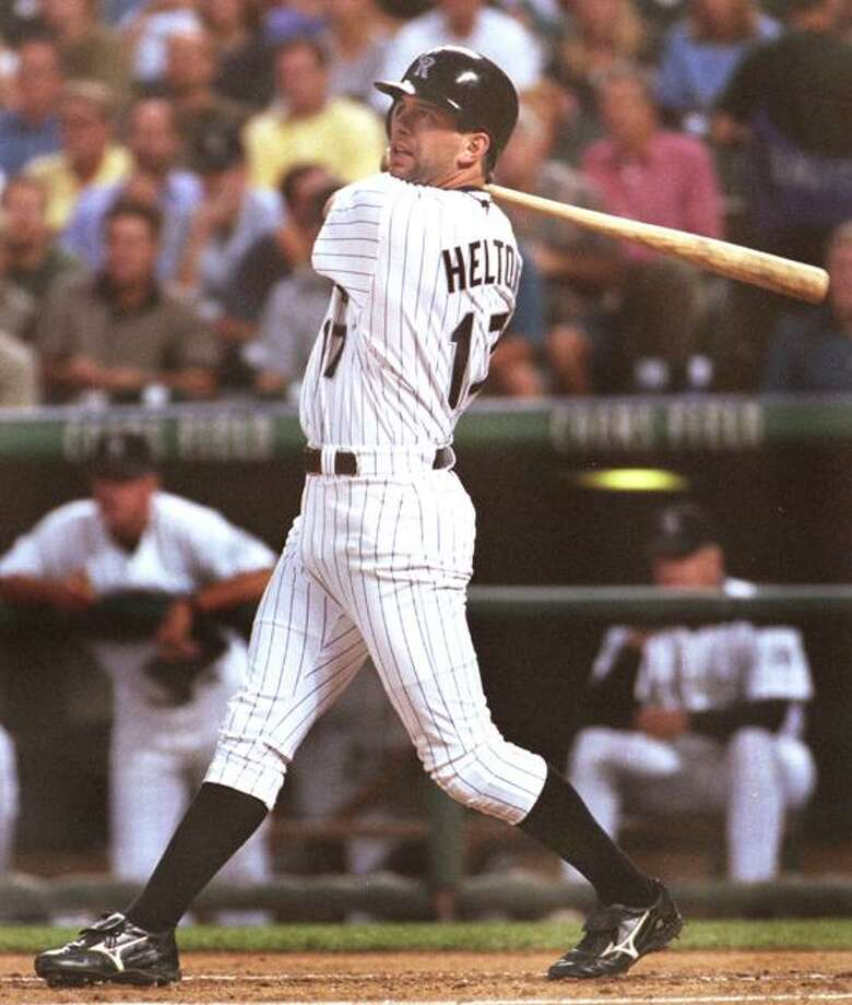 Todd Helton, shown here in 2000 with the  Colorado Rockies, hit .332 in 93 games with the New Haven Ravens in 1996. (Associated Press file photo) Photo: ASSOCIATED PRESS / AP2000