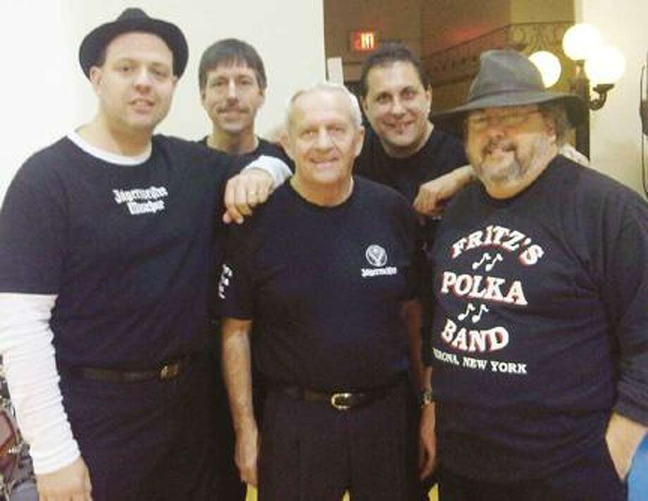 Photo courtesy of Fritz Scherz Fritz's Polka Band, featuring, from left, Fritz Scherz, Frank Nelson, Tom Campbell, Mike Faraino, and Gabe Vaccaro want area residents to give polka music a chance as they start the 2012 Sherrill Summer Concert series this Tuesday at 6:30 p.m. The concert is at the Reilly-Mumford Memorial Park and is free and open to the public.